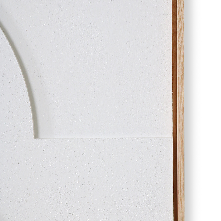 HKliving HKliving ingelijst reliëf paneel wit B extra groot AWD8920