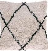 HKliving HKliving Kussen Diamant Zwart/wit crème 50 x 50 cm