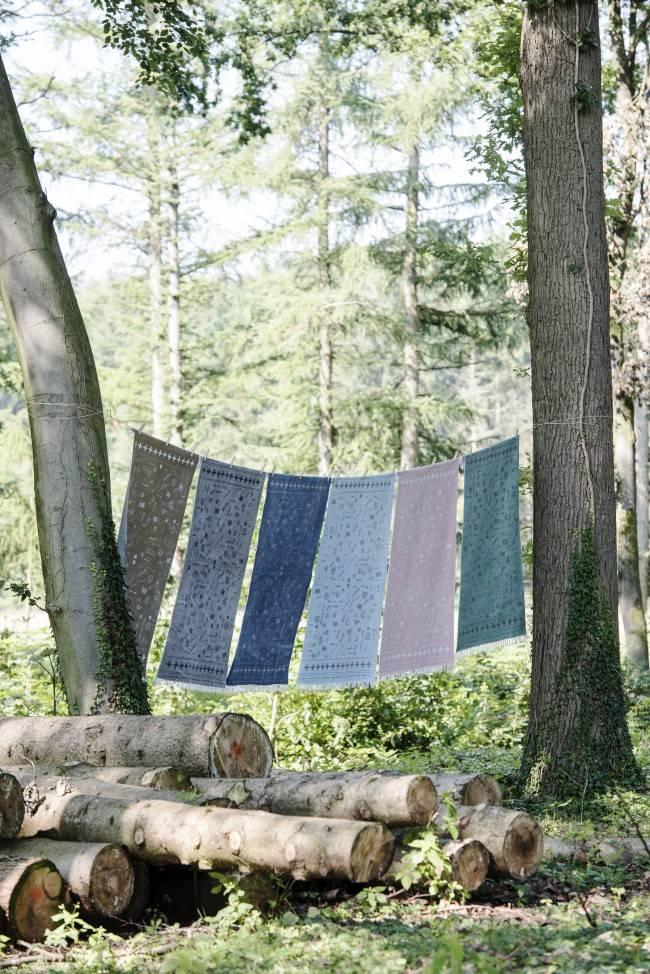 Stapelgoed Stapelgoed kleed Olijfgroen / Naturel