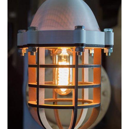 Lichtlab No. 20 LichtLab Industrielamp print wit