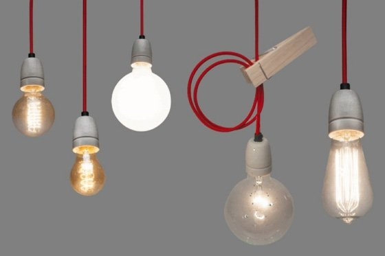 Lichtlab Draadlamp Torcido Linnen
