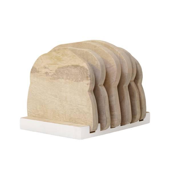 Hk Living Hk Living houten bordenrekje Half wit - Loaf