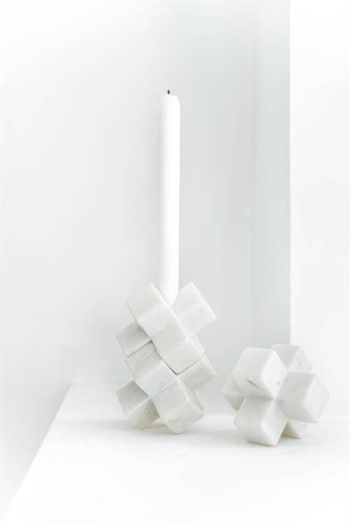 Hk Living Kaarsenhouder kruis marmer 3D