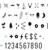 a Little Lovely Company Lightbox aanvullingsset Cijfers en Symbolen