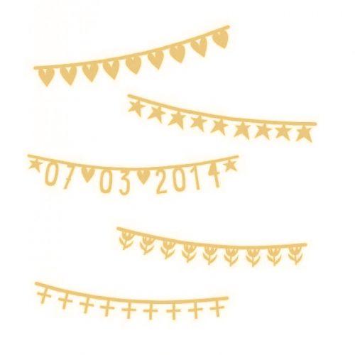 a Little Lovely Company Letterslinger banner Aanvulling Goud