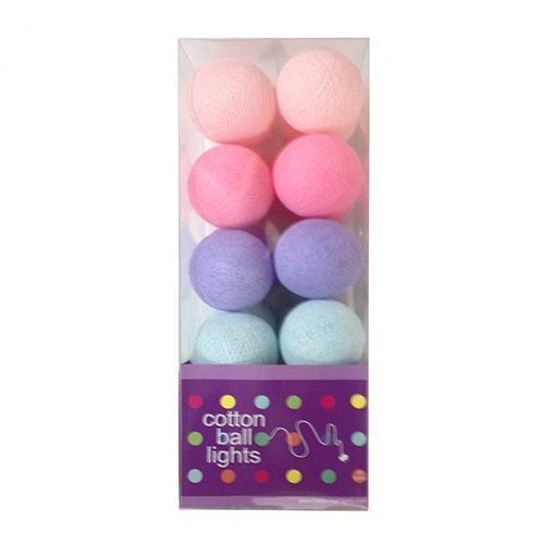 Cottonball Lights Cotton Ball Lights Pastel Mix Roze-Paars-Mint