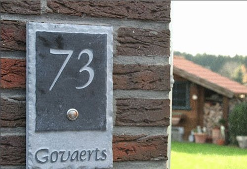 La Pierre Stones Natuursteen huisnummerbordje Fairgate 1