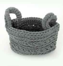 Naco Opbergmand Crochet Lichtgrijs