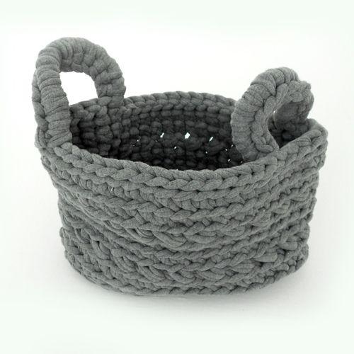 Naco Opbergmand Crochet Lichgrijs