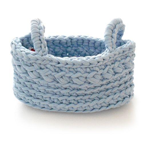 Naco Opbergmand Crochet Lichtblauw