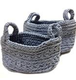 Naco Opbergmand Crochet Jeansblauw