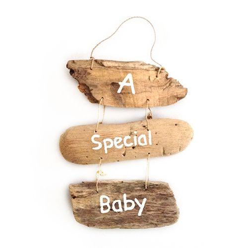 Puur Basic Home selection Houten decoratie hanger babykamer