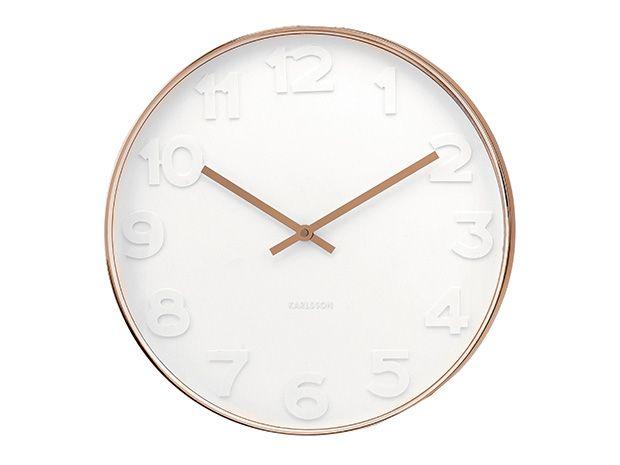 Present Time Karlsson Little Klok Mr. White - koper