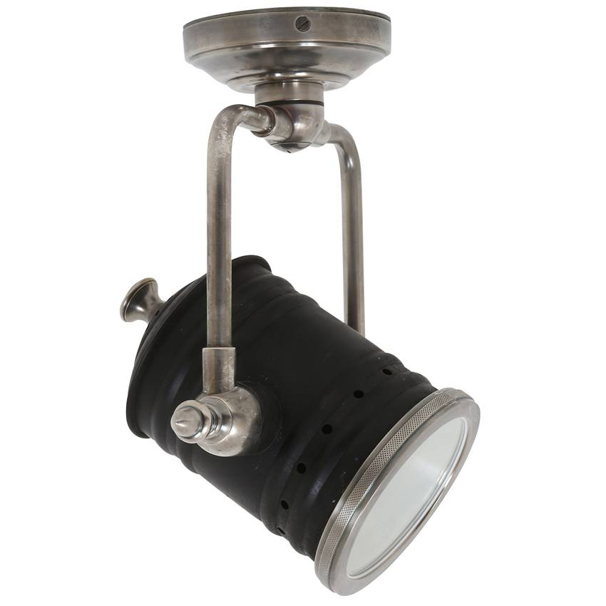 Industriële verlichting Wandlamp Fresno Vintage steel black