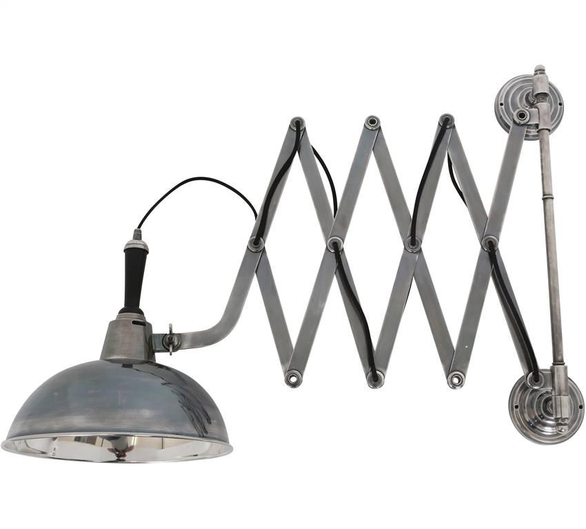 Industriële verlichting Wandlamp Harmonica XL Antiek Zilver