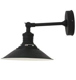 Industriële verlichting Wandlamp Kensington Antiek Mat Zwart