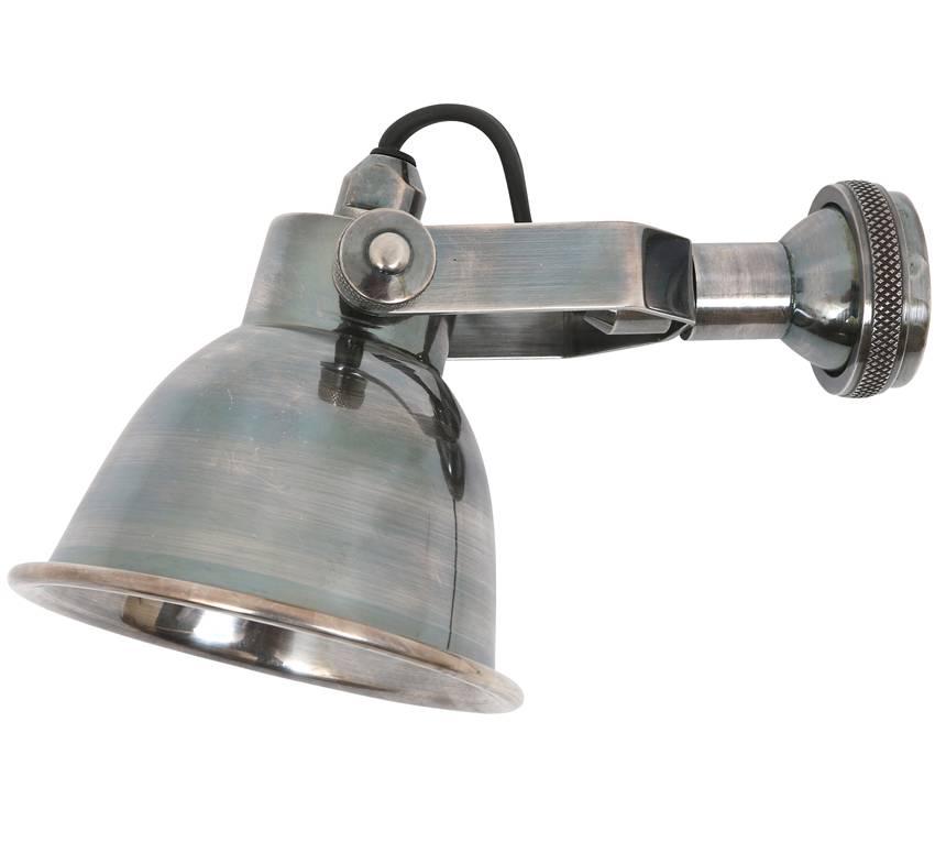 Industriële verlichting Wandlamp / Spotje Miami Antiek Zilver