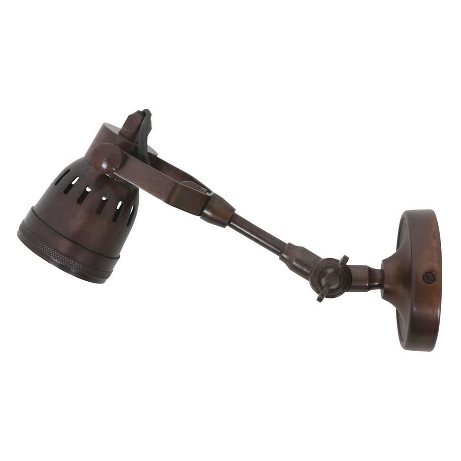 Industriële verlichting Wandlamp / Spotje Mulberry Antiek Dark Brass Koper