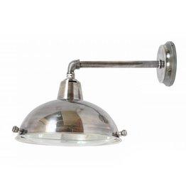 Industriële verlichting Wandlamp Parklane Antiek Zilver