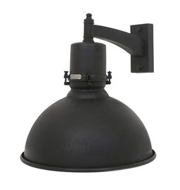 Industriële verlichting Wandlamp Rochdale Antiek Mat Zwart