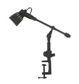 Industriële verlichting Tafellamp Spot Orlando Antiek Mat Zwart