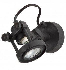 Industriële verlichting Wandlamp / Spotje Prescott Antiek Mat Zwart