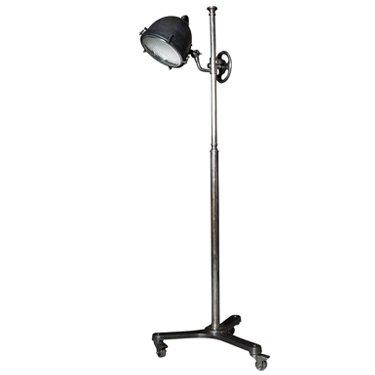 Industriële verlichting IndustriÃ«le vloerlamp Lomax Vintage steel black