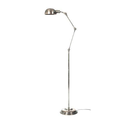 Industriële verlichting IndustriÃ«le vloerlamp Nova Antiek Zilver