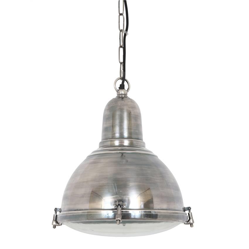 Industriële verlichting IndustriÃ«le hanglamp Albion Antiek Zilver
