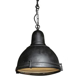 Industriële verlichting Hanglamp Albion Antiek Mat Zwart