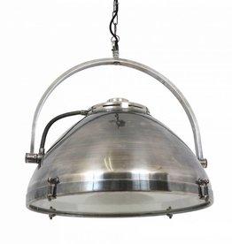 Industriële verlichting Hanglamp Bombay Antiek Zilver