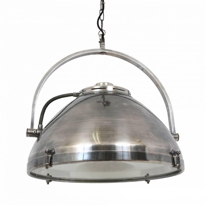 Industriële verlichting IndustriÃ«le hanglamp Bombay Antiek Zilver