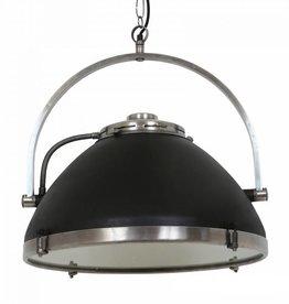 Industriële verlichting Hanglamp Bombay Vintage steel black