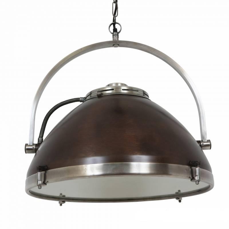 Industriële verlichting IndustriÃ«le hanglamp Bombay Vintage steel dark brass koper