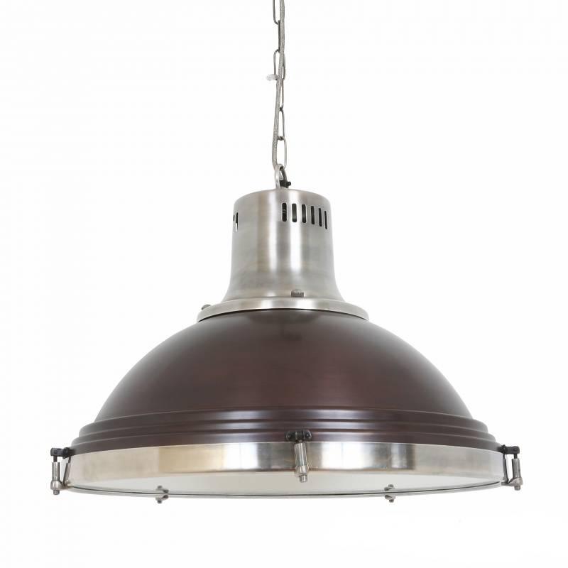 Industriële verlichting IndustriÃ«le hanglamp Agra Vintage steel dark brass koper