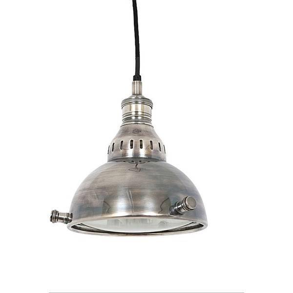 Industriële verlichting IndustriÃ«le hanglamp Elysee Antiek Zilver