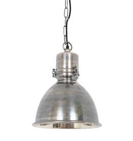 Industriële verlichting Hanglamp Dipper Antiek Zilver