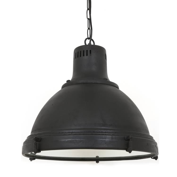 Industriële verlichting IndustriÃ«le hanglamp Davenport Antiek Mat Zwart