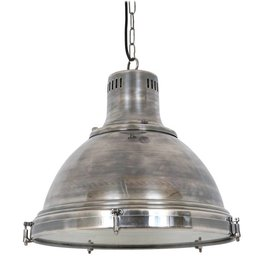 Industriële verlichting Hanglamp Davenport Antiek Zilver