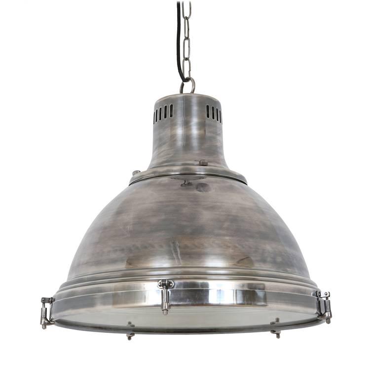 Industriële verlichting IndustriÃ«le hanglamp Davenport Antiek Zilver