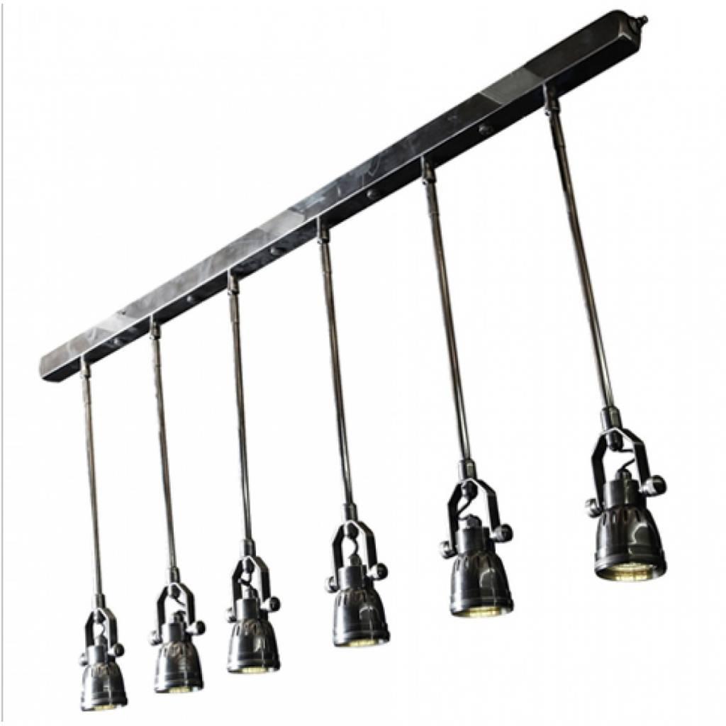 Industriële verlichting IndustriÃ«le hanglamp Spider Antiek Zilver