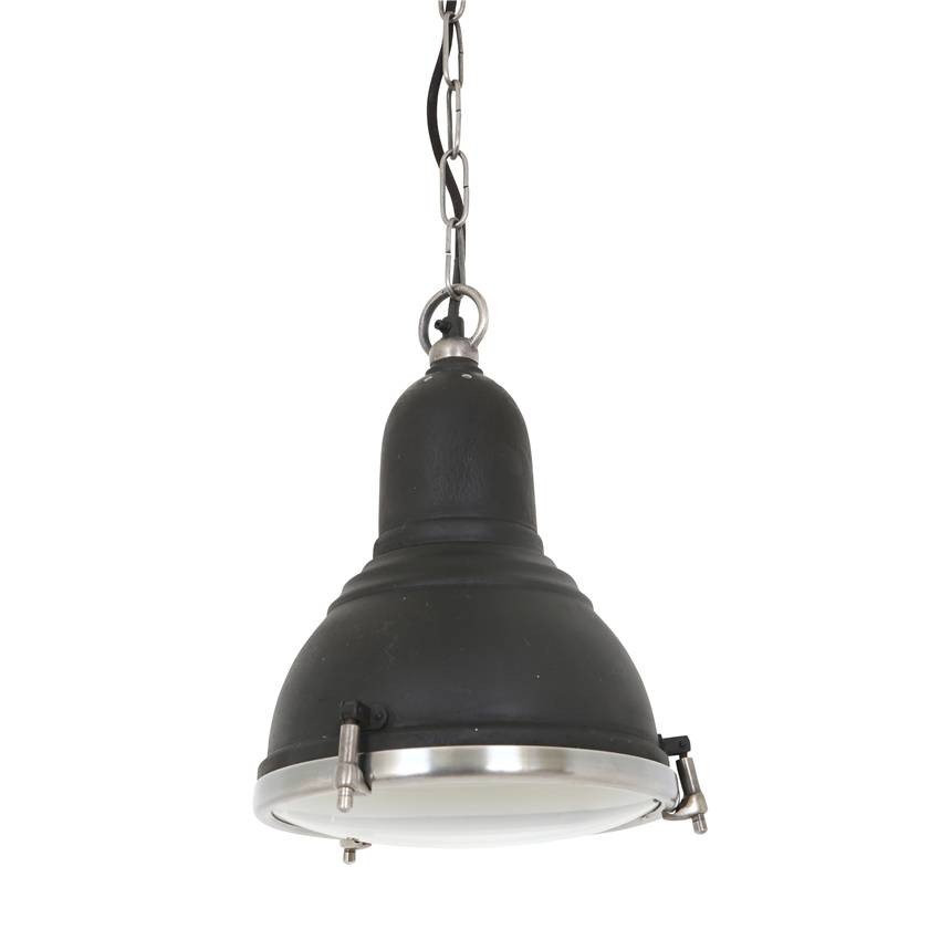 Industriële verlichting IndustriÃ«le hanglamp Savoy Vintage steel black