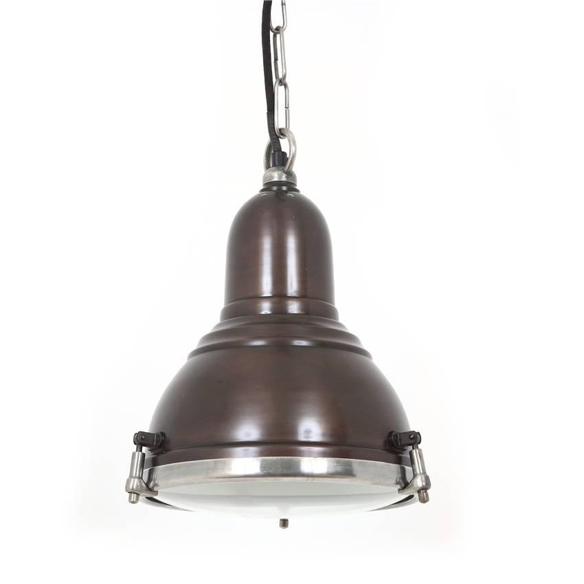 Industriële verlichting IndustriÃ«le hanglamp Savoy Vintage steel dark brass koper