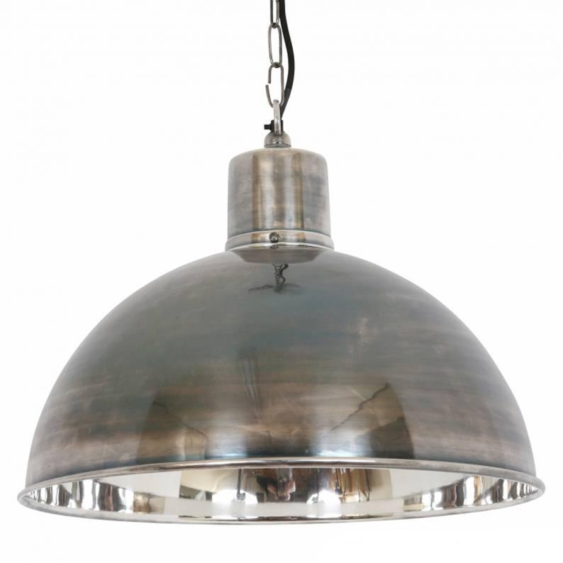 Industriële verlichting IndustriÃ«le hanglamp Monroe Antiek Zilver