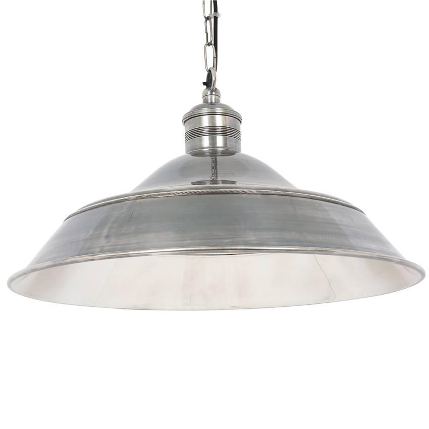 Industriële verlichting Industriële hanglamp Lisbon Antiek Zilver