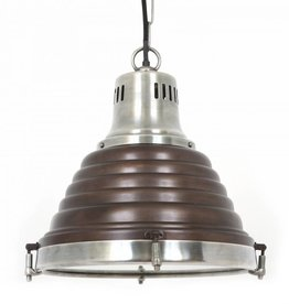 Industriële verlichting Hanglamp Mistral Vintage steel dark brass koper