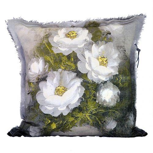 Stapelgoed Stapelgoed kussen Palet Bloemen - Grijs