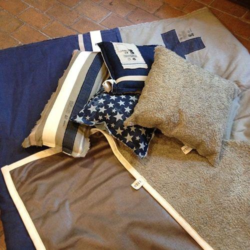 Stapelgoed Stapelgoed kussen Jeans naturel blauw