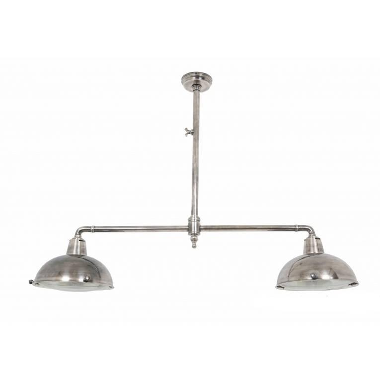 Industriële verlichting IndustriÃ«le hanglamp Billiard 2 Antiek Zilver