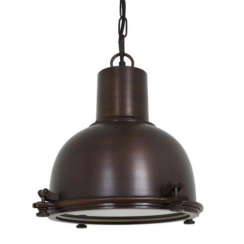 Industriële verlichting IndustriÃ«le hanglamp Kingston Antiek dark brass koper